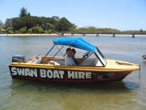 Swan Boat Hire - Accommodation Mount Tamborine