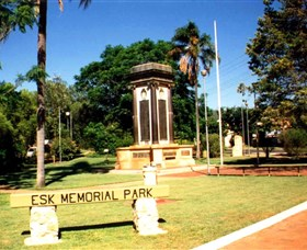 Esk War Memorial and Esk Memorial Park - Accommodation Mount Tamborine