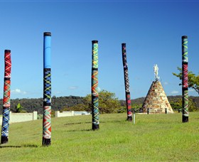 Maclean Tartan Power Poles - Accommodation Mount Tamborine