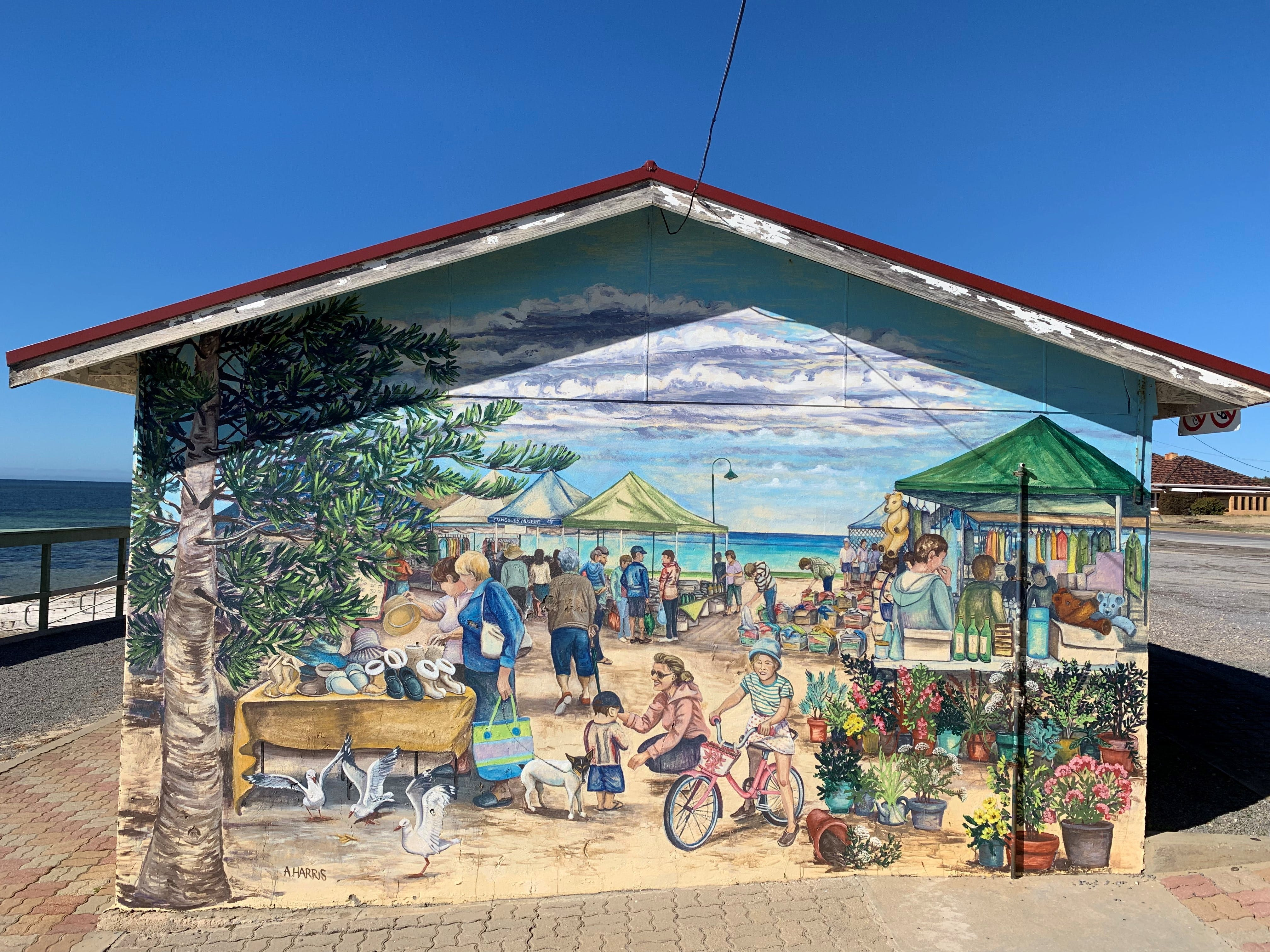 Stansbury Foreshore Murals - Accommodation Mount Tamborine