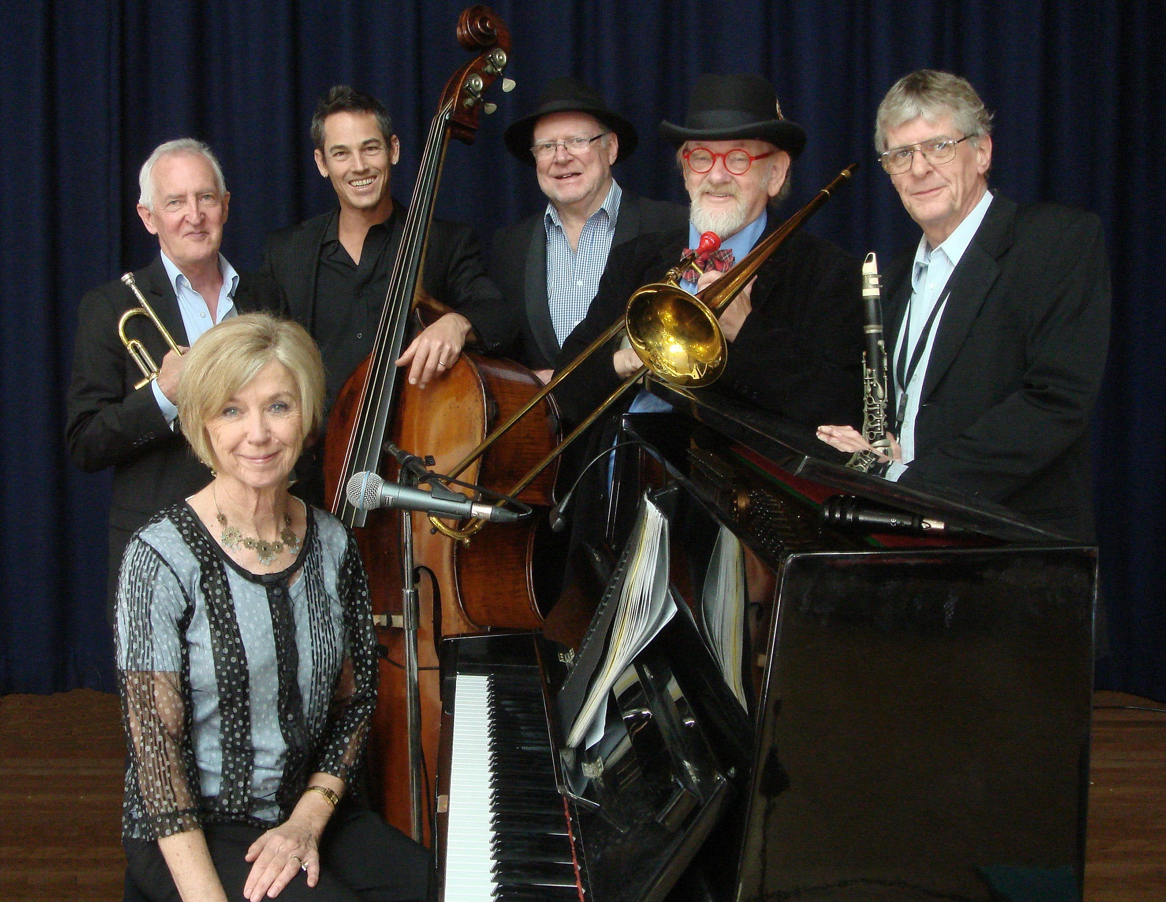 The Caxton Street Jazz Band in the Swigmore Hall at Robert Channon Wines - Accommodation Mount Tamborine